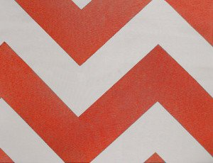 Orange Chevron Table Linens