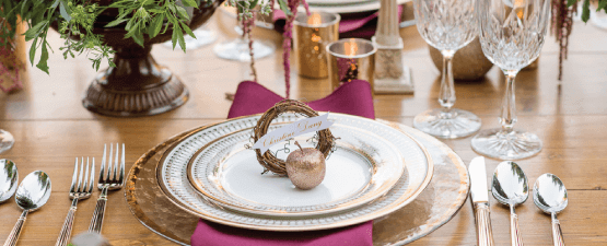 private parties elegant placesetting