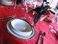 Red, Pink, White, & Black Table Settings for Valentine's Day_4