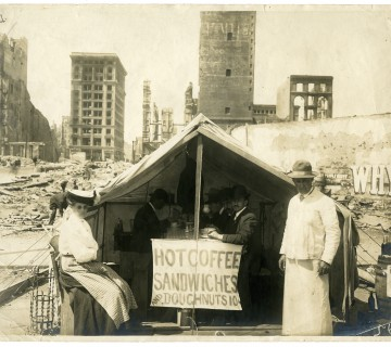 1906 earthquake coffee and sandwich tent