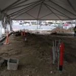 construction tent interior