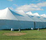 tension tent with center pole