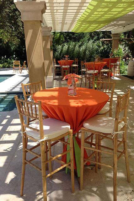 outdoor patio party table settings